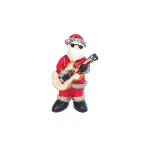 Glitter Santa Playing Guitar