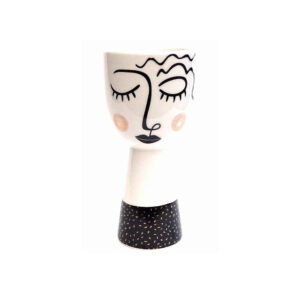 Ceramic Vase Ladies Face