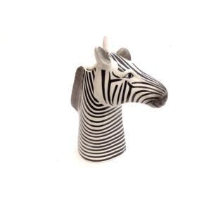 Zebra Plant Holder Tall Neck