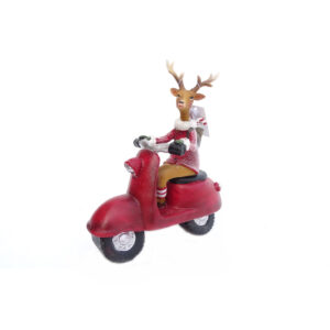 Reindeer on Moped