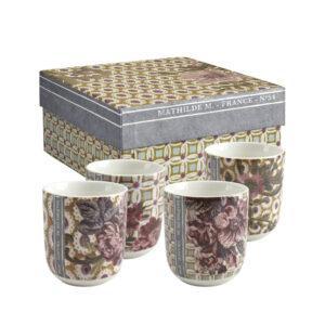 Mathilde M – Set of 4 Madame de Montespan Coffee Cups