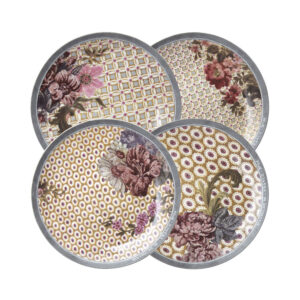 Mathilde M – Box of 4 Madame de Montespan Dessert Plates