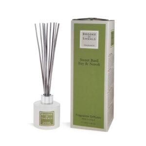 Brooke & Shoals – Home Fragrance Diffuser – Sweet Basil, Bay & Neroli